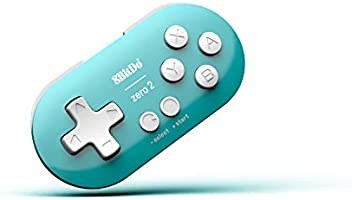 8Bitdo Zero 2 Bluetooth Key Chain Sized Mini Controller for Nintendo Switch, Windows, Android and macOS (Turquoise Edition)