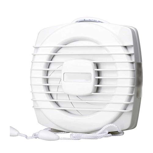 LANDUA Ventilador Cable, 6 Pulgadas de Escape Fuerte Reversible del Flujo de Aire montado en la Pared Glas Ventilador de ventilación for los respiraderos