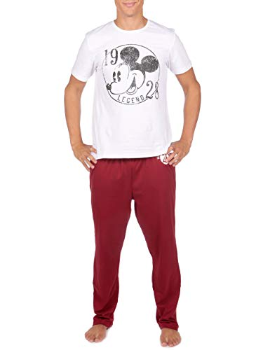 Disney - Ensemble De Pyjamas - Mickey Mouse - Homme - Blanc - Medium