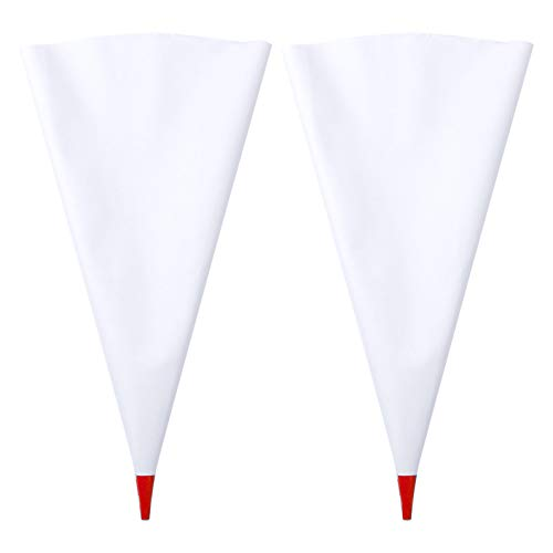 IEFIEL2 Piezas Bolsa para Lechada Bolsas de Mortero Mangas para Juntas Bolsas de Cemento para Azulejo Mampostería Reutilizable Accesorios Rojo OneSize