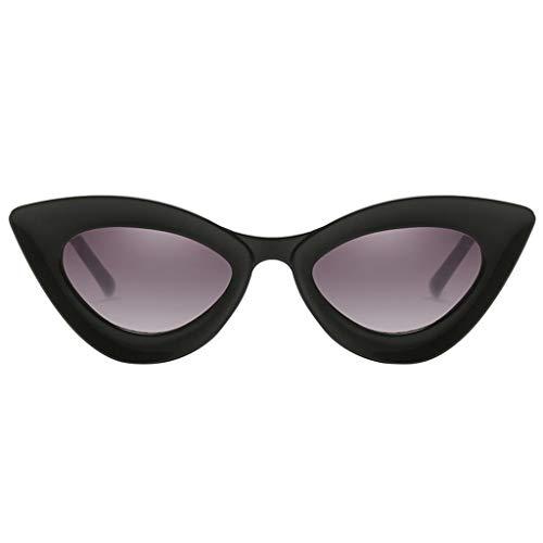 Baoblaze Occhiali Da Sole Cat Eye Occhiali Da Sole Donna Stile Vintage UV400 - Nero brillante, 146x150x46mm