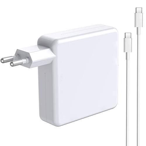 87W USB-C alimentación compatible con el MacBook Pro USB C cargador de repuesto para 2016 2017 2018 2019 MacBook 13/15 pulgadas, 30W/61W/87W tipo C cargador con cable de carga de 6,56 pies
