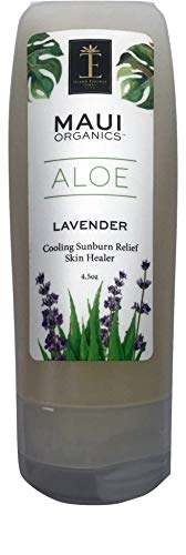 Maui Organics Intense Sunburn Relief and Skin Healer Cool Lavender Aloe (4.5 Ounce)