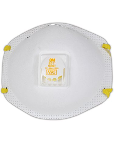 3M 50051138543438 Particulate Respirator 8511, N95 (Pack of 10)