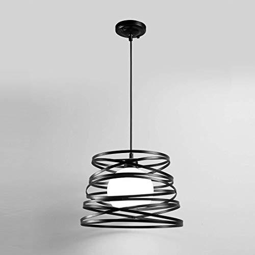 Lampadario moderno a sospensione a fasce intrecciate, in ferro verniciato finish opaco - Attacco 1xE27, Potenza max 1x60 W, dim. 33x22 cm, lunghezza filo 100 cm