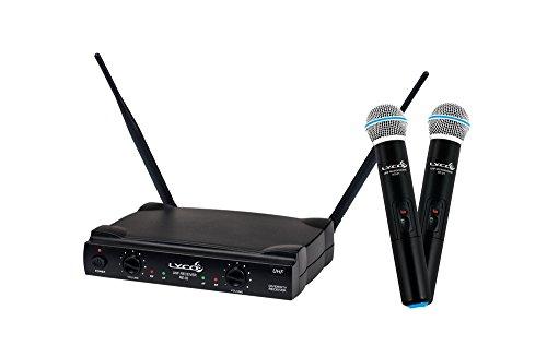 Microfone Uhf Lyco Duplo Sem Fio Mão Uh02mm, Nf, Novo!!