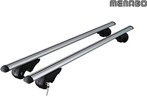 Generico Barre portatutto Portapacchi Auto (con corrimano) Brio Alluminio per Suzuki Ignis (HT) 0308