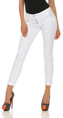 Buena Vista Damen Hose Malibu Skinny Fit Weiss (10) L
