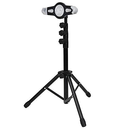 Iron Cushion Tablet Stand,Height Adjustable 55-145cm/21.6-57.1in, Black Kids Ipad Stand for Ipad Pro 10.5/9.7/12.9, Ipad Mini 2 3 4, Ipad Air 2, Iphone X 8 7 Plus, 6S Plus, Samsung Galaxy Tab S7 S8