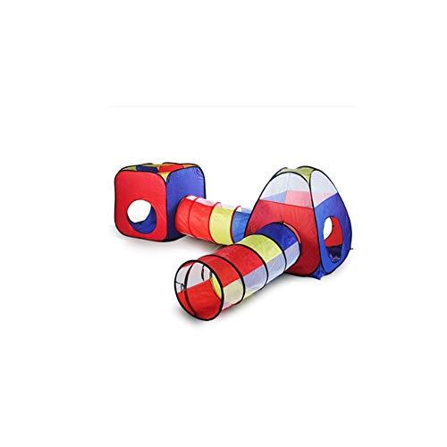 DDMYF Baby-Play House Kinderzelt, Kinderspielhaus aufblasbares Zelt Paddock Ball Pool Kinder Krabbeln Tunnelzelt