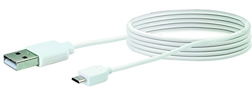 SCHWAIGER -LK200M 532- Micro USB Sync & Ladekabel | USB 2.0 A Stecker > USB Mircor B Stecker | geeignet für Smartphone, Tablet, Kamera, Powerbank | 2 m | weiß