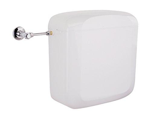 Aufsatzspülkasten Zaffiro | Kunststoff | 2 Mengen Spültechnik | 3 - 6 Liter oder 3 - 7 Liter | WC, Toilette | Weiß