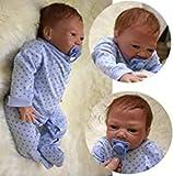 ZIYIUI 20 Zoll Reborn Babypuppe Realistisch 50cm Neugeborene Reborn Silikon Weichkörper...