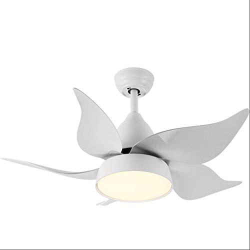 Luz silenciosa del ventilador de techo Lámpara de luz de ventilador creativo Lámpara de dormitorio for niños Luz de ventilador Habitación for niños Luz de ventilador de techo Ahorro de energia