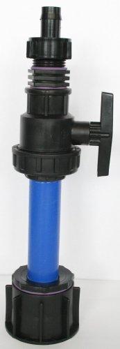 'ame90r _ 9482 + 287 Tube d'écoulement avec tube plastique DN32, 100 mm AG 1 + boule plastique robinet, Mamelon double et une plastique Douille avec Ecrou IBC Adaptateur de réservoir d'eau de pluie de Accessoires de conteneurs Mamelon de Bidon