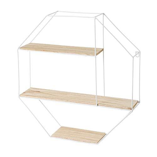 Estantería Cubo de paulonia y Metal Blanca nórdica de 1140x12 cm - LOLAhome