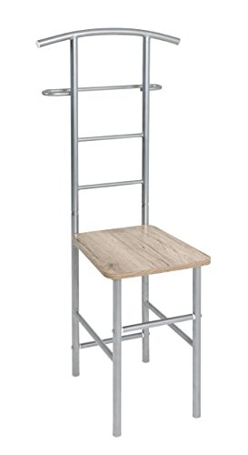 Haku Möbel valet stand - de metal con asiento, altura 109 cm