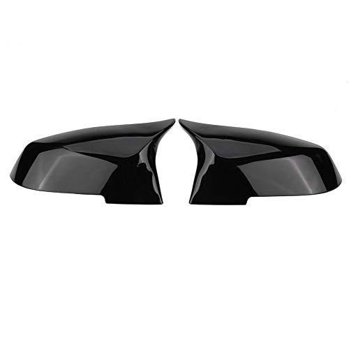 VGEBY1 Rückspiegel Abdeckkappe, F30 Spiegelkappen Zwei Typen Option 1 Paar Spiegelkappen Rückspiegel Abdeckkappe Für 220i 328i 420i F20 F21 F22 F30 F32 F33 F36 X1 E84 (Glänzend schwarz)