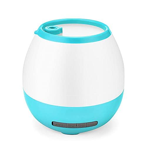 FUJGYLGL Mini Room Humidifier LED Music Speaker with Flash Music Speaker Flower Pot (Color : Blue)