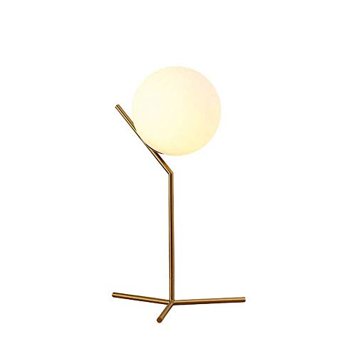 Dekoration für Innenbeleuchtung Tischlampe Globe Tischlampe, Mid-Century Goldene Schreibtischlampe, Personality Creative Glass Lampshade Eisen Lampensockelart for Schlafzimmer, Wohnzimmer, Kinderzimme
