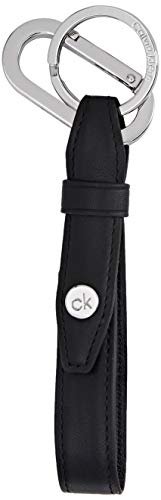 Calvin Klein Ck Panache Keyfob - Portachiavi ad anello e catena Uomo, Nero (Blackwhite Black), 1x1x1 cm (W x H L)