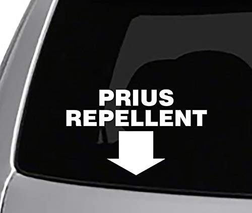 Seek Prius Repellent Decal CAR Truck Window Sticker Funny Joke Prank Sticker Lifted Diesel Exhaust with Tracking