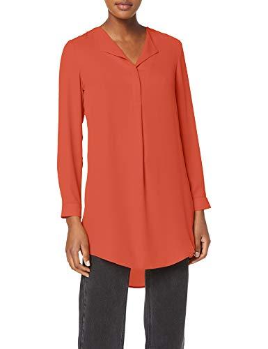 Vila NOS Damen VILUCY L/S SHIRT - NOOS Bluse, Rot (Ketchup), Medium (Herstellergröße: M)