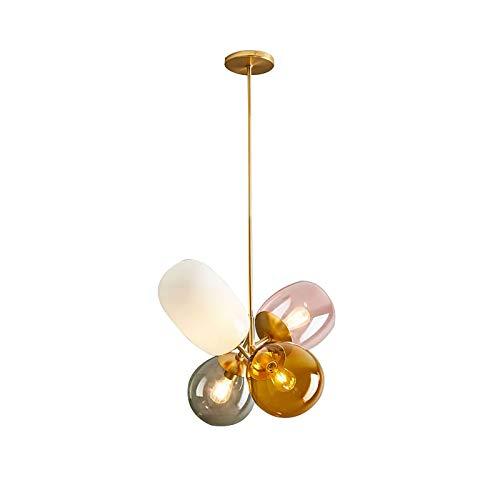 YMLL Moderno Lámparas de araña, 4 Luces Iluminación Colgante de Techo Fixture para la Cocina, Comedor, Dormitorio, Café, Bar,Warm Light