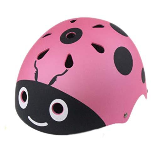 VORCOOL Kinder Helm Fahrradhelm Skaterhelm Schutzhelm Kopfschutz für Baby Mädchen Junge Kleinkinder Damen Radfahren Eislaufen (Rosa Marienkäfer)