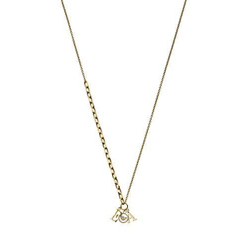 Emporio Armani EG3421710 Damen Collier Gold Weiß 45 cm