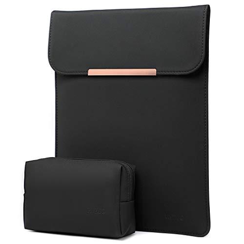 HYZUO 13,5 Zoll Laptop Hülle Tasche wasserdichte Laptophülle Compatibel mit Surface Book 3/ Surface Book 2/ Surface Book 1 13,5 Zoll Laptoptasche Notebooktasche mit kleine Tragetasche, Schwarz
