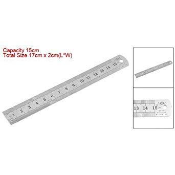 Sonline 15cm 6 Pulgadas Regla de Metal Inoxidable Herramienta de Medicion
