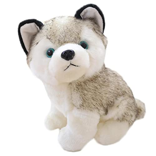 Simulation Husky Cute Dog Lifelike Plush Animals Puppy Kids Toys for Children Christmas Birthday Gift
