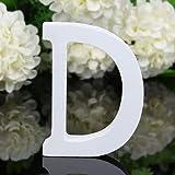 TIANSHU Letras de Madera Decorativas, 26 Letras Letra de Pared del Alfabeto de Madera para niños Nombre de bebé Niñas Fiesta de cumpleaños, Letras de Amor de Madera para Bricolaje (Letra: D)