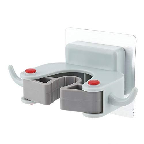 Pegue el material sólido del ABS del tenedor del organizador de la fregona con el gancho para las escobas(azul)