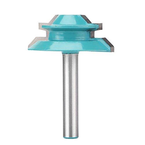 Router Bits 45 Grad Verleimfräser Gehrung Fräse,Akozon Holzbearbeitung Reversible Schiene Hartmetall Router Bohrer1/4 * 1-1/2 Lock Miter Schaft Gehrung Fräse Oberfräser Werkzeug Joint Tenon Cutter