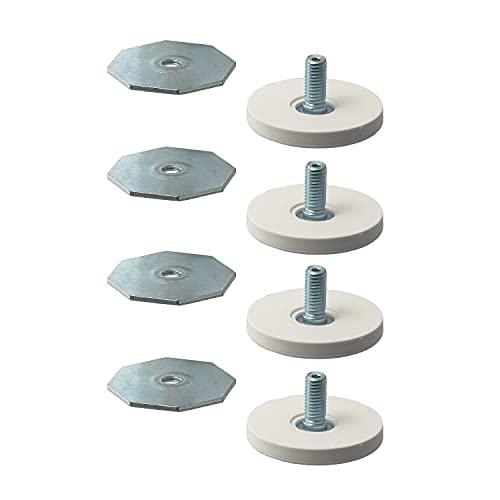 Ikea LATTHET patas ajustables (pies), blanco, 203.311.98, paquete de 4