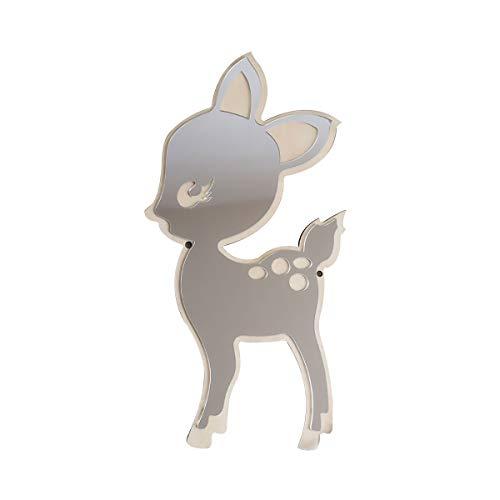 Cestor 3D Nordic Kinderzimmer Spiegel,Acryl Dekorative Spiegel Wandaufkleber Aufkleber Kinder Kinder Kunst Wohnkultur Haushalt Geburtstagsgeschenk,Cartoon Deer