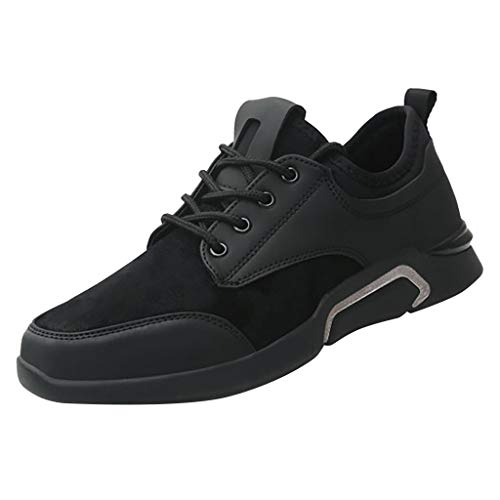 HDUFGJ Herren Sneaker Atmungsaktiv Bequem Laufschuhe Outdoor Jogging Schuhe Fitnessschuhe Freizeitschuhe Fitnessschuhe Flache Schuhe42(Weiß)