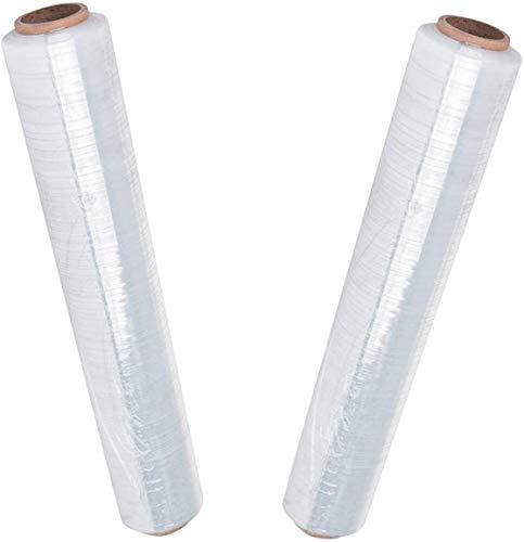 6x Palettenfolie Transparent Packfolien - 23my 500mm x 300m - Wickelfolie Hand Stretchfolie Verpackungsfolie folie 23my 2,5 kg (500 Millimeter x 300 Meter)