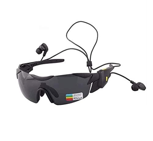 ZOUSHUAIDEDIAN Gafas de sol de Bluetooth for Hombres prevenir eficazmente los rayos ultravioletas nocivos y azul de luz polarizada for Wireless Music Center de sol, Informe V4.1 voz al aire libre mult