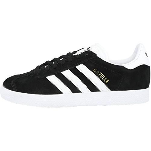 adidas Gazelle, Zapatillas de deporte Unisex Adulto, Varios colores (Core Black/White/Gold Metalic), 39 1/3 EU
