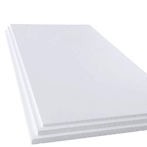 発泡スチロール 板 断熱材 中硬さ 4枚 1830×925×40mm 白色