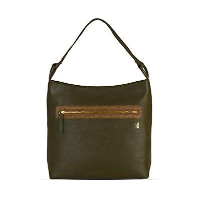 Baggit Autumn/Winter 2020 Faux Leather Women's Hobo Handbag (Green) (Scotted)