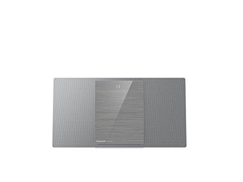 Panasonic Micro HiFi System SC-HC402EG-S (40 Watt RMS, DAB Plus, CD, UKW, Digitalradio, Bluetooth, silber)