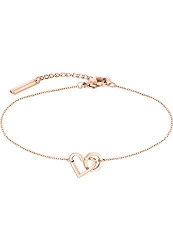 Liebeskind Berlin Damen-Armband Edelstahl One Size Roségold 32010523