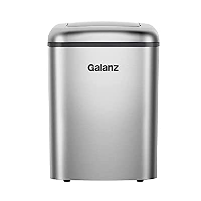 Galanz GLCI26SRA3A Countertop Maker, LED Display, Making 26 lbs Ice in 24 Hrs, 2.1 Cu.Ft,Silver