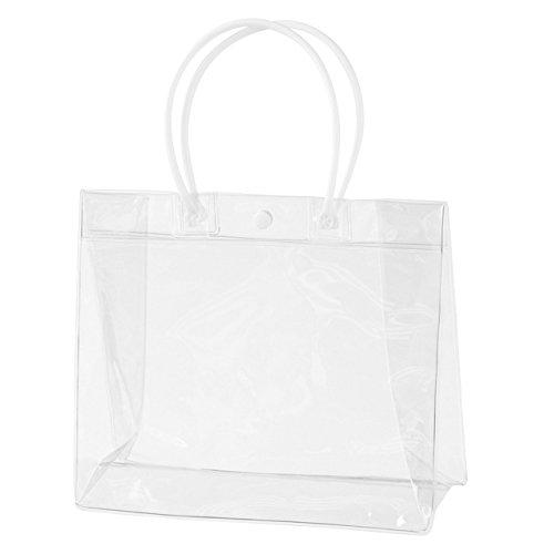 ヘッズ 無地 透明 ビニール バッグ 横長 22×18.5×8�p 10枚 ラッピング袋 HEADS M-PLWB