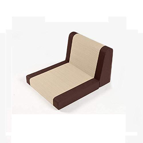 YLCJ Japanse stoel op de voet, kussen in meditatieplanner van de klapstoelen van het traditionele retro-zwart. Bruin