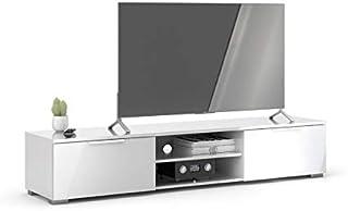 تفيلوم طاولة تلفاز لشاشة تلفزيون مقاس 65 بوصة ، لون أبيض ، مقاس 33.1 × 172.7 × 39.9 سم